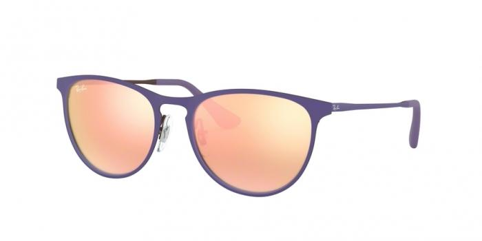 Gafas de sol Ray-Ban Junior RJ9538S 252/2Y RUBBER BROWN/VIOLET - DEMO LENS