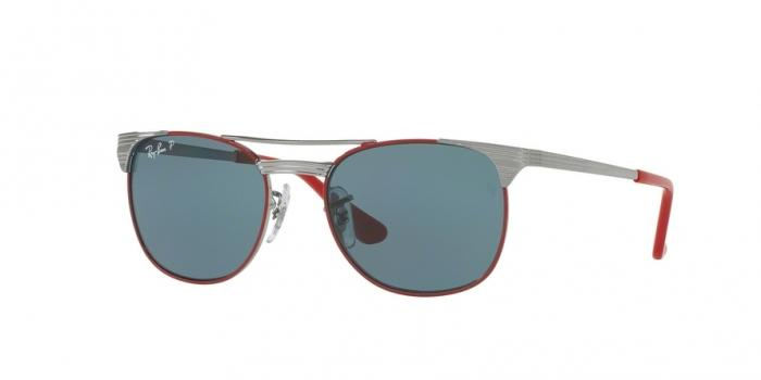 Gafas de sol Ray-Ban Junior RJ9540S 218/2V GUNMETAL TOP RED - POLAR BLUE