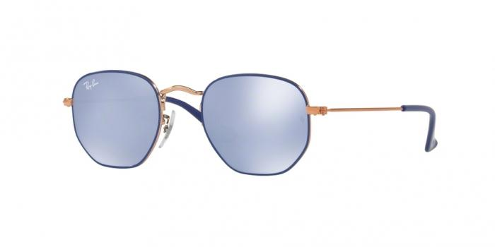 Gafas de sol Ray-Ban Junior RJ9541SN 264/1U COPPER TOP BLUE - BLUE FLASH SILVER