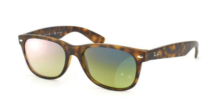 Gafas de sol Ray-Ban NEW WAYFARER RB2132 894/76 MATTE HAVANA - BLUE/GREEN POLAR