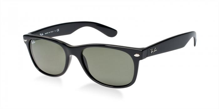Gafas de sol Ray-Ban NEW WAYFARER RB2132 901L BLACK - CRYSTAL GREEN