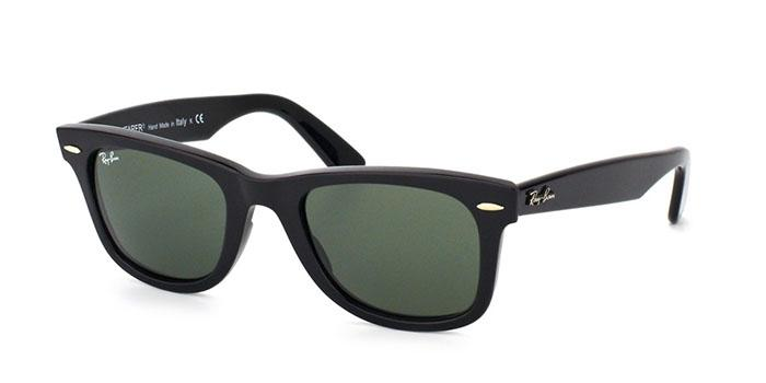 Gafas de sol Ray-Ban RB2140 ORIGINAL WAYFARER 901 BLACK - CRYSTAL GREEN