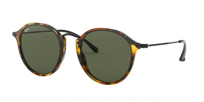 Gafas de sol Ray-Ban RB2447 ROUND FLECK 1157 SPOTTED BLACK HAVANA - GREEN