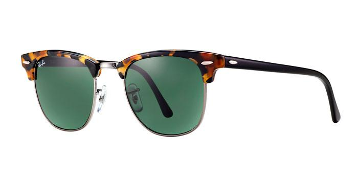 Gafas de sol Ray-Ban CLUBMASTER RB3016 1157 SPOTTED BLACK HAVANA - GREEN