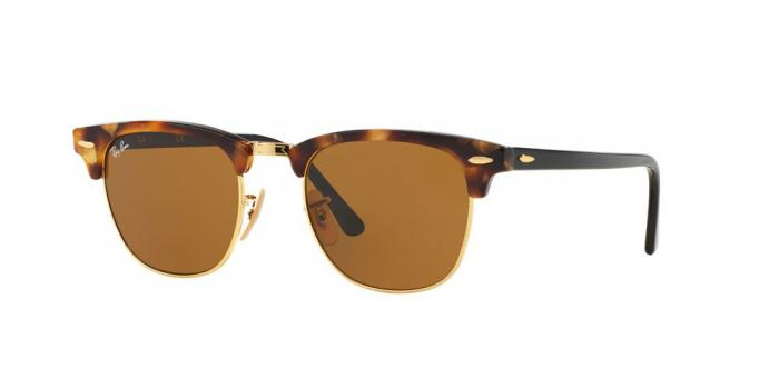 Gafas de sol Ray-Ban CLUBMASTER RB3016 1160 SPOTTED BROWN HAVANA - BROWN