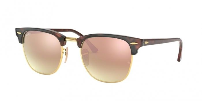 Gafas de sol Ray-Ban RB3016 CLUBMASTER 990/7O SHINY RED/HAVANA - COPPER FLASH GRADIENT