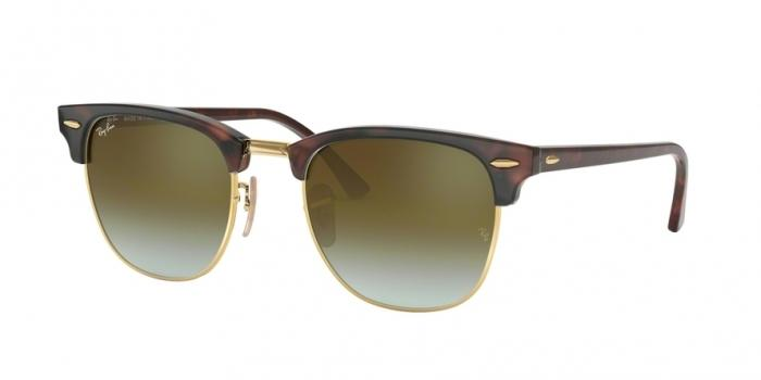 Gafas de sol Ray-Ban RB3016 CLUBMASTER 990/9J SHINY RED/HAVANA - GREEN FLASH GRADIENT