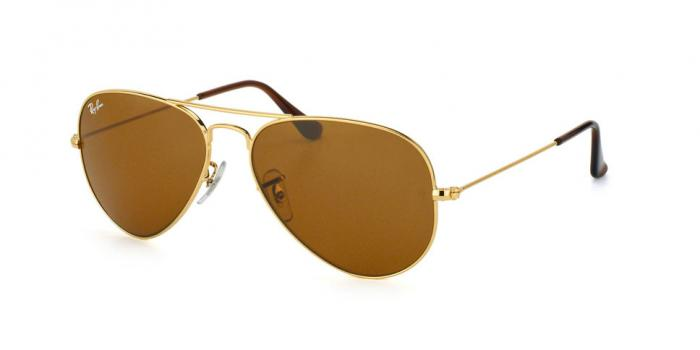 Gafas de sol Ray-Ban AVIATOR LARGE METAL RB3025 001/33 GOLD - CRYSTAL BROWN