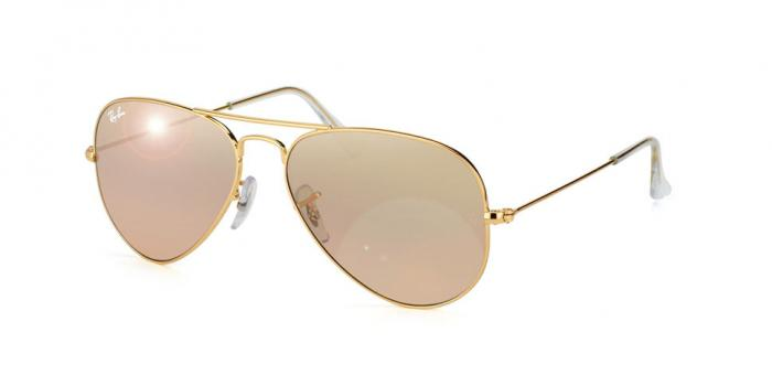 Gafas de sol Ray-Ban AVIATOR LARGE METAL RB3025 001/3E GOLD - CRYS.BROWN-PINK SILVER MIRROR