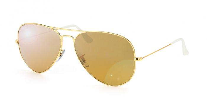 Gafas de sol Ray-Ban AVIATOR LARGE METAL RB3025 001/3K GOLD - CRY. BROWN MIRROR SILVER GRAD.