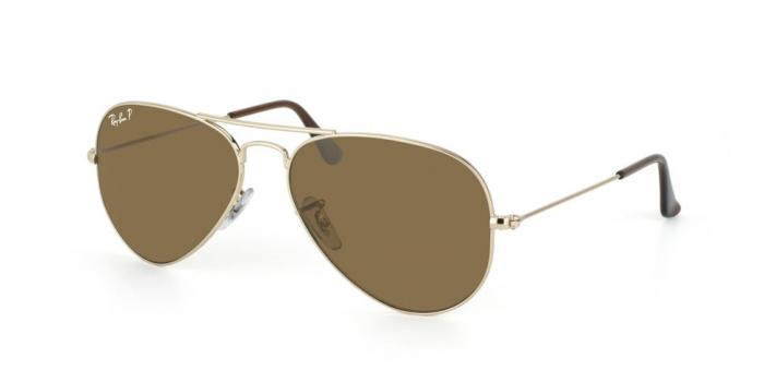 Gafas de sol Ray-Ban AVIATOR LARGE METAL RB3025 001/57 GOLD - CRYSTAL BROWN POLARIZED
