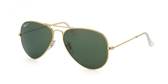 Gafas de sol Ray-Ban AVIATOR LARGE METAL RB3025 001/58 GOLD - CRYSTAL GREEN POLARIZED