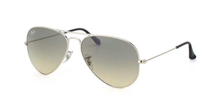 Gafas de sol Ray-Ban AVIATOR LARGE METAL RB3025 003/32 SILVER - CRYSTAL GREY GRADIENT