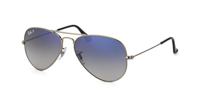 Gafas de sol Ray-Ban AVIATOR LARGE METAL RB3025 004/78 GUNMETAL - CRYSTAL POLAR BLUE GRAD.GREY