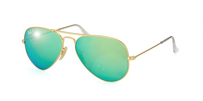 Gafas de sol Ray-Ban AVIATOR LARGE METAL RB3025 112/P9 MATTE GOLD - GREEN MIRROR POLAR