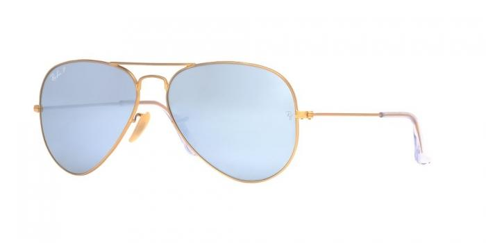 Gafas de sol Ray-Ban RB3025 AVIATOR LARGE METAL 112/W3 MATTE GOLD - POLAR DARK GREY