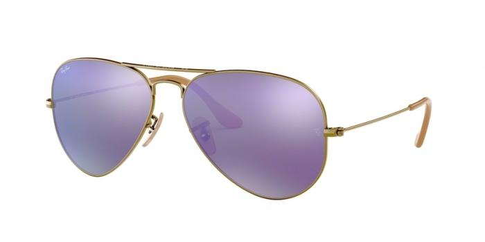 Gafas de sol Ray-Ban AVIATOR LARGE METAL RB3025 167/1M BRUSHED BRONZE DEMI SHINY - GREY MIRROR PURPLE