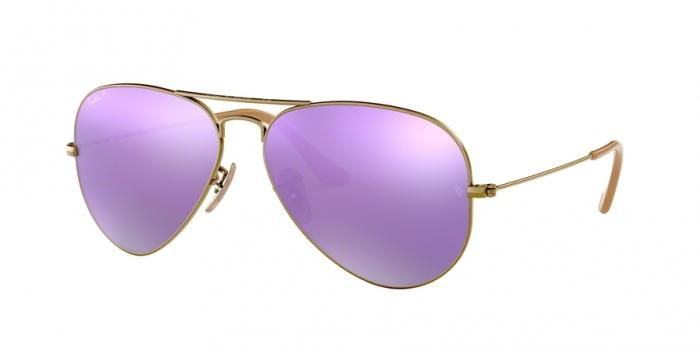 Gafas de sol Ray-Ban RB3025 AVIATOR LARGE METAL 167/1R BRUSHED BRONZE DEMISHINY - GREY MIRROR LILAC POLAR