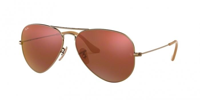 Gafas de sol Ray-Ban AVIATOR LARGE METAL RB3025 167/2K DEMIGLOS BRUSHED BRONZE - RED MIRROR