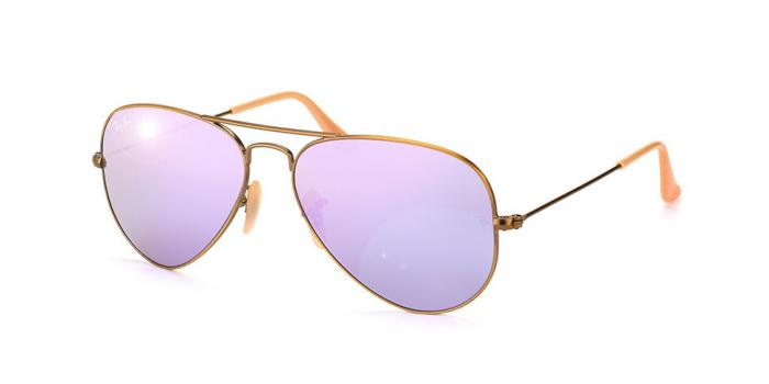 Gafas de sol Ray-Ban AVIATOR LARGE METAL RB3025 167/4K DEMIGLOS BRUSCHED BRONZE - LILLAC MIRROR