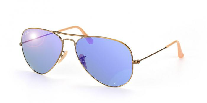 Gafas de sol Ray-Ban AVIATOR LARGE METAL RB3025 167/68 DEMIGLOS BRUSCHED BRONZE - BLUE MIRROR
