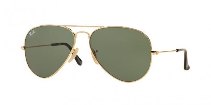 Gafas de sol Ray-Ban AVIATOR LARGE METAL RB3025 181 GOLD - DARK GREEN