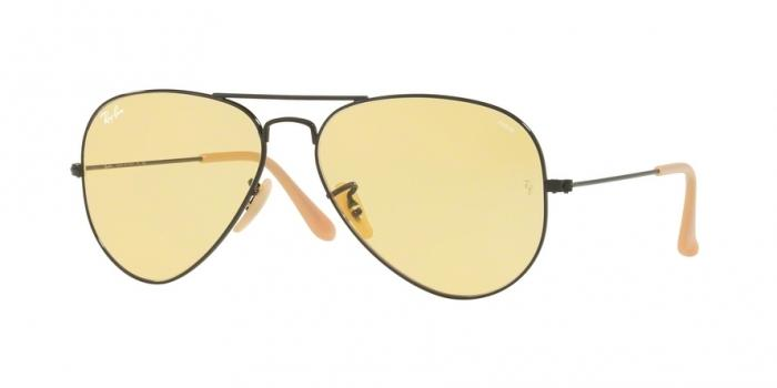 Gafas de sol Ray-Ban RB3025 90664A MATTE BLACK - PHOTO YELLOW
