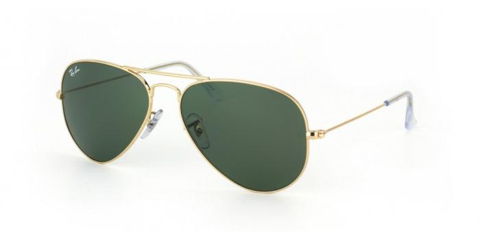 Gafas de sol Ray-Ban AVIATOR LARGE METAL RB3025 W3234 GOLD - GREY GREEN