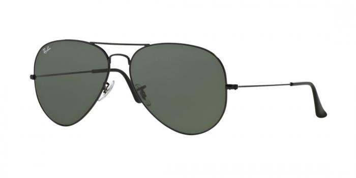 Gafas de sol Ray-Ban AVIATOR LARGE METAL II RB3026 L2821 BLACK - CRYSTAL GREEN