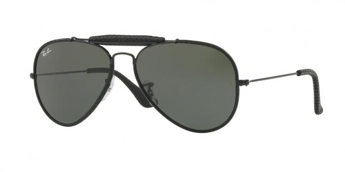 Gafas de sol Ray-Ban RB3422Q 9040 LEATHER BLACK - GREEN