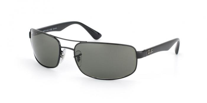 Gafas de sol Ray-Ban RB3445 002/58 BLACK - CRYSTAL GREEN POLARIZED