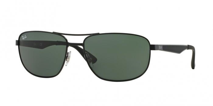 Gafas de sol Ray-Ban RB3528 006/71 MATTE BLACK - GREEN