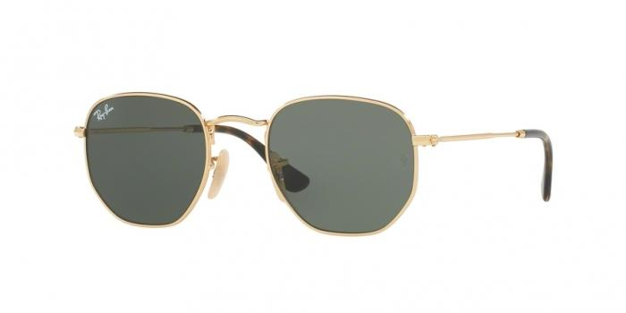 Gafas de sol Ray-Ban RB3548N HEXAGONAL FLAT LENSES 1 GOLD - GREEN