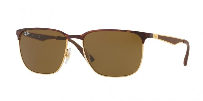 Gafas de sol Ray-Ban RB3569 900873 GOLD TOP SHINY HAVANA - DARK BROWN