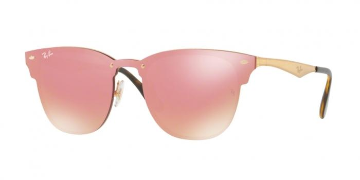 Gafas de sol Ray-Ban RB3576N BLAZE CLUBMASTER 043/E4 BRUSHED GOLD - PINK MIRROR PINK