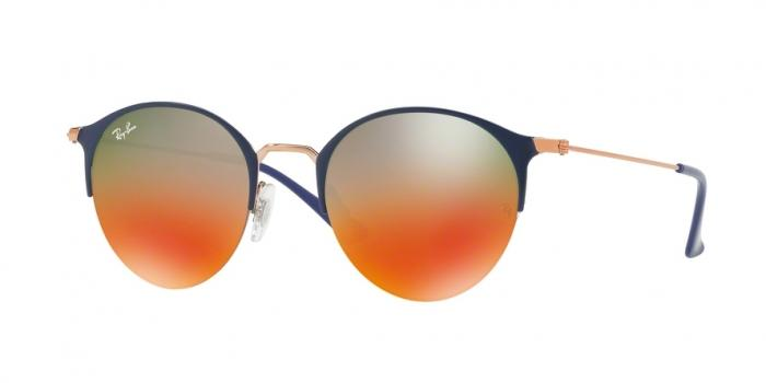Gafas de sol Ray-Ban RB3578 9036A8 COPPER TOP BLUE - LIGHT BROWN MIRROR RED GRAD