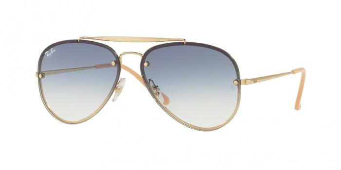 Gafas de sol Ray-Ban RB3584N 001/19 GOLD - CLEAR GRADIENT LIGHT BLUE