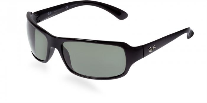 Gafas de sol Ray-Ban RB4075 601/58 BLACK - CRYSTAL GREEN POLARIZED