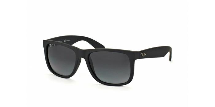 Gafas de sol Ray-Ban RB4165 JUSTIN 622/T3 BLACK RUBBER - POLAR GREY GRADIENT