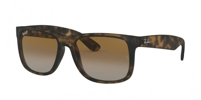 Gafas de sol Ray-Ban RB4165 JUSTIN 865/T5 HAVANA RUBBER - POLAR BROWN GRADIENT