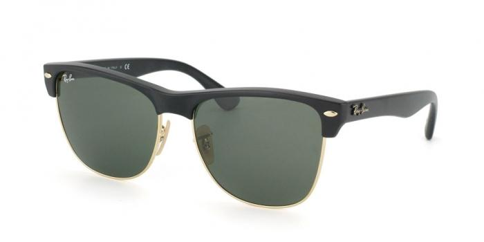 Gafas de sol Ray-Ban CLUBMASTER OVERSIZED RB4175 877 DEMI SHINY BLACK/ARISTA - CRYSTAL GREEN