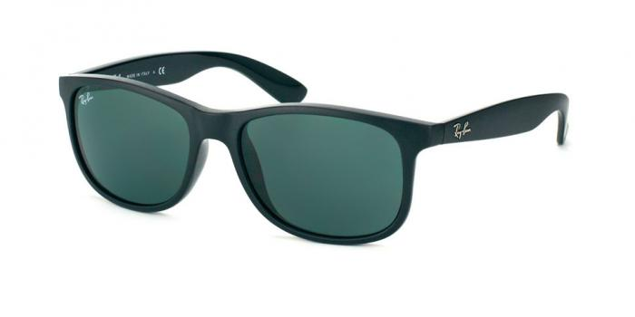 Gafas de sol Ray-Ban RB4202 ANDY 606971 MATTE BLACK - DARK GREEN