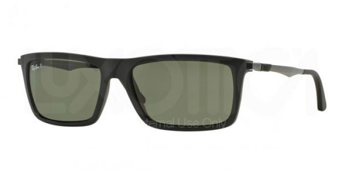 Gafas de sol Ray-Ban RB4214 601S9A MATTE BLACK - POLAR GREEN
