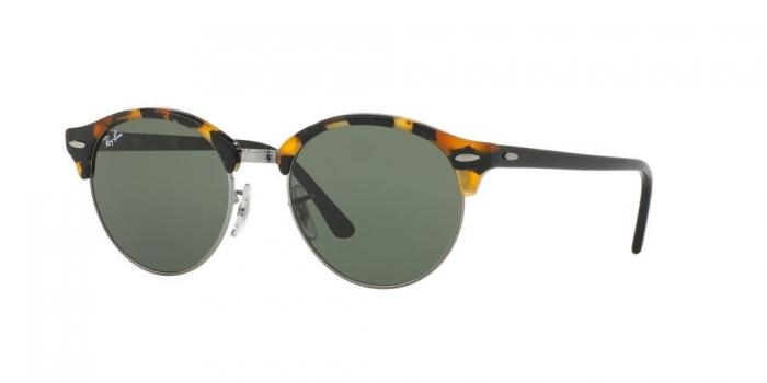 Gafas de sol Ray-Ban RB4246 CLUBROUND 1157 SPOTTED BLACK HAVANA - GREEN