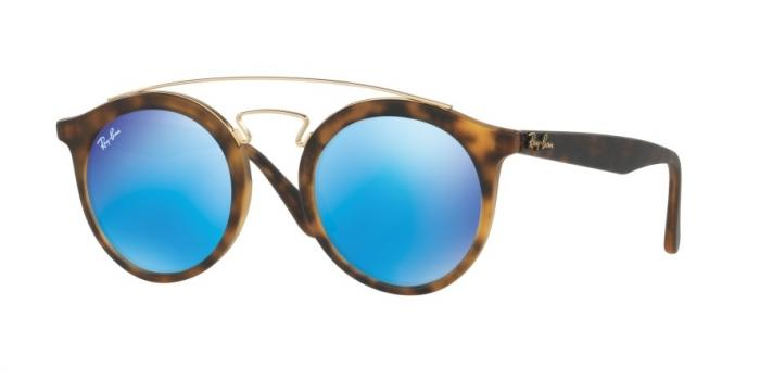 Gafas de sol Ray-Ban RAY-BAN GATSBY RB4256 609255 MATTE HAVANA - LIGHT GREEN MIRROR BLUE
