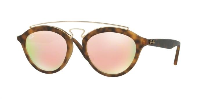 Gafas de sol Ray-Ban RB4257 60922Y MATTE HAVANA - LIGHT BROWN MIRROR PINK