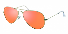 Gafas de sol Ray-Ban AVIATOR LARGE METAL RB3025 019/Z2 MATTE SILVER - BROWN MIRROR PINK