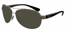 Gafas de Sol Ray-Ban RB3386 ACTIVE LIFESTYLE 004/9A GUNMETAL - POLAR GREEN