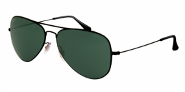 Gafas de Sol Ray-Ban AVIATOR FLAT METAL RB3513 153/71 DEMI GLOSS BLACK - DARK GREEN