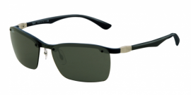 Gafas de Sol Ray-Ban RB8312 124/71 DARK CARBON+RUBBER BLUE - GREEN